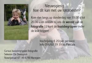flyer fotocursus voor beginners